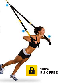 Girl Using TRX